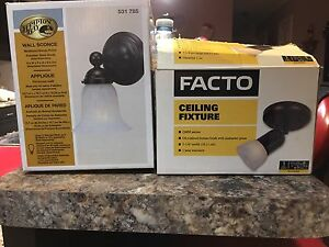 2 brand new in box lights oil rubbed bronze color