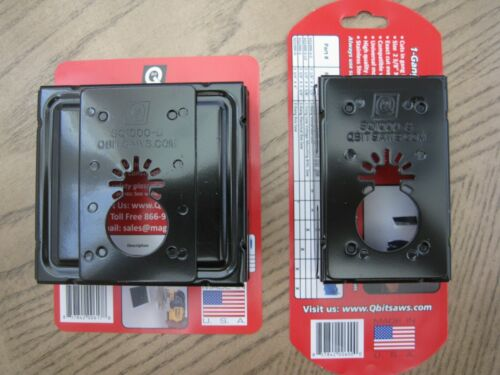 NEW 2 QBit 1 & 2 Gang Oscillating Retrofit Multi Tool Saw Blade Wall Outlet Box