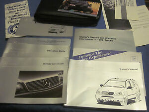 1999 mercedes ml 320 430 ml320 ml430 owners manual owner 39 s for Mercedes benz ml320 repair manual