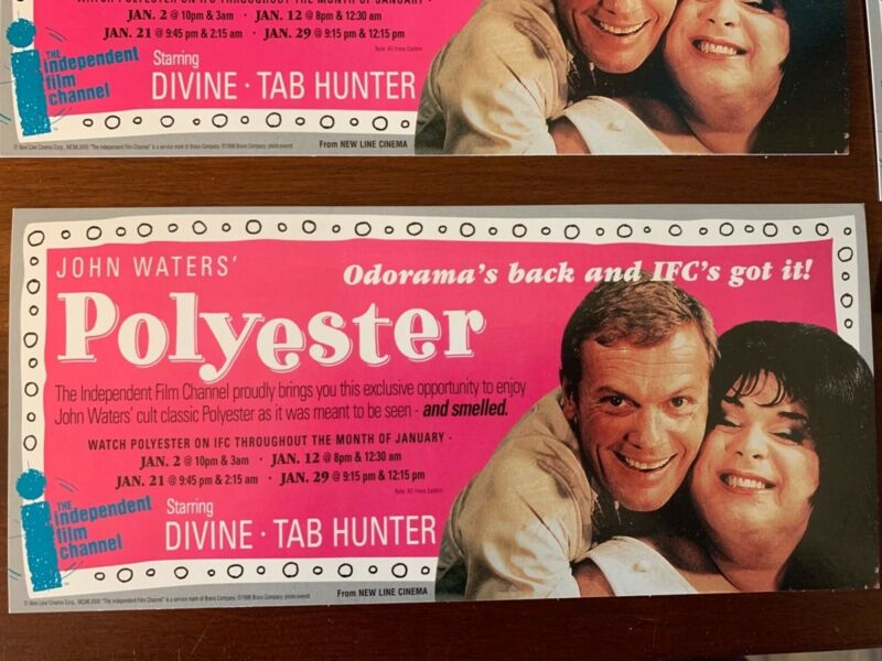 John Waters Polyester Odorama Scatch and Sniff Card