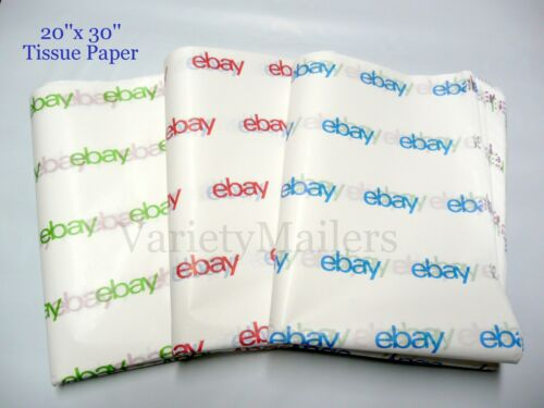 44 Large Sheets of eBay Branded Tissue Paper 20x30 ~ Red, Blue & Green