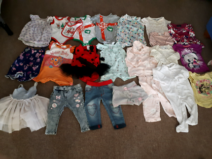 Assorted Size 0 Baby Girl Clothes Bundle