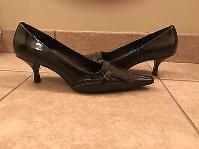 Enzo Angiolini Brown Patent Leather Pumps Heels Shoes 8.5 Brown Patent Leather Shoes