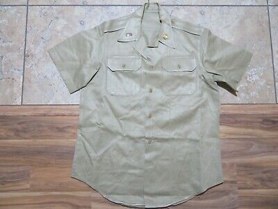 1940s Men's Shirts, Sweaters, Vests VTG 1940s US Military Mans Shirt with Bar and Pin Khaki Sz M WW2? Army? $34.99 AT vintagedancer.com