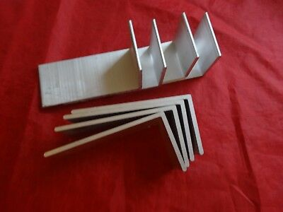 2 X 4 Aluminum Angle 18 Thick 1 34 In Length 8 Pieces