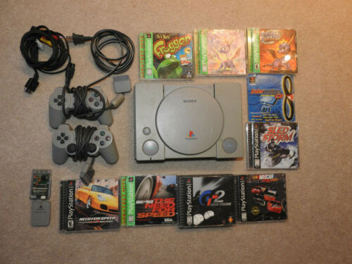 PlayStation One complete package!  Games, controllers and memory cards