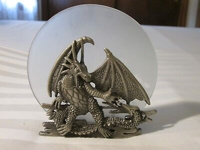 (Pewter Dragon Candle Holder)