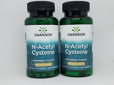 2 Pack Swanson NAC N-Acetyl Cysteine 600mg 100 Caps (200