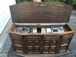 Simpson-Sears record and 8 track player