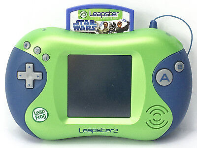 LeapFrog Leapster 2 Learning System Green w/ Star Wars Jedi Math Game