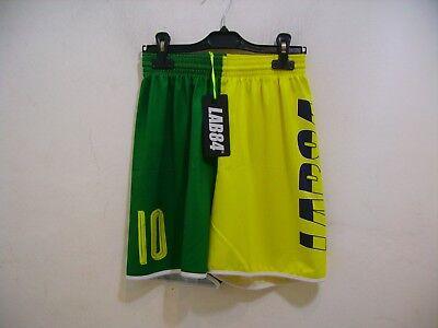 Lab84 Kostüm Shorts Dryfit SHTU1008FLAG Brasil gelb grün