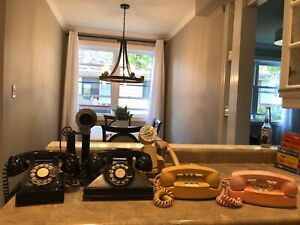 Collection of old phones and then take phones for sale