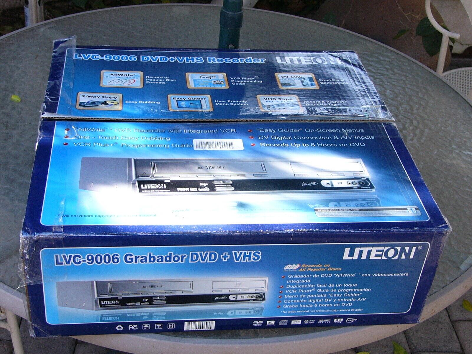 NEW Lite On LVC-9006 Progressive Scan DVD VHS Recorder Playe