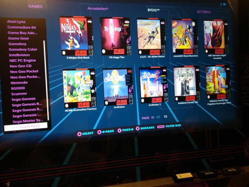 5500+ Games AtGames Legends Ultimate Arcade Add-on