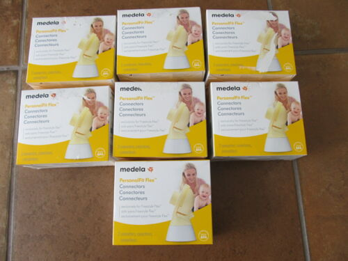 Lot of 7 Boxes of Medela PersonalFit Flex Connectors Set - 2 Connectors Per Box