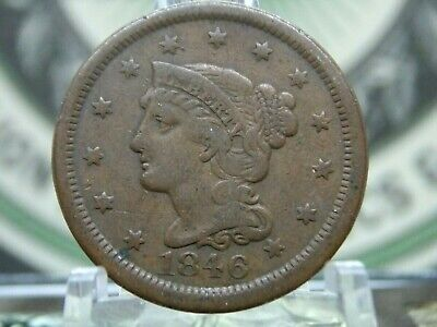 1846 Braided Hair Large Cent 1c #1 East Coast Coin & Collectables, Inc.