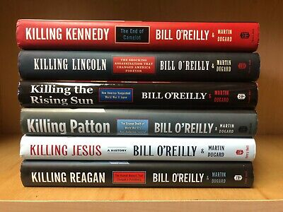 Lot of 6 Bill O'Reilly Hardcover Books Killing Series - Free Shipping! VGC