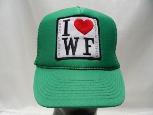 I LOVE WHITEFISH - MONTANA - CRUSH LOUNGE - TRUCKER STYLE SNAPBACK BALL CAP HAT!