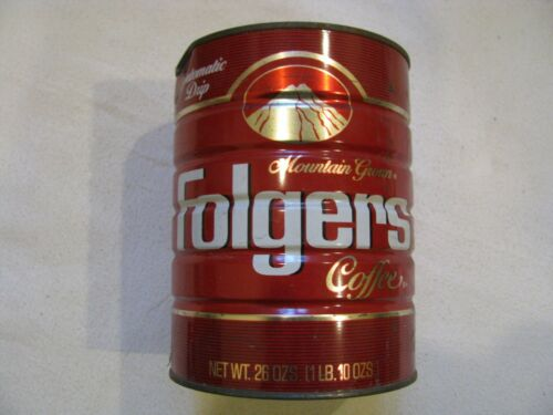 26 OZ Folgers COFFEE Tin Can Big Lebowski