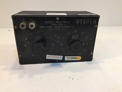Decade Inductance Type 232i 2321 New York Transformer Co.
