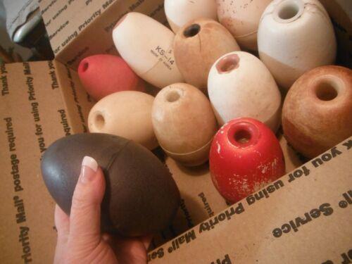 12 Columbia River gillnet fishing floats / corks / styrofoam - vintage - genuine