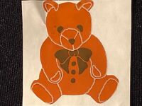 VINTAGE 80/'s 4 Teddy Bear Stickers What is Life Without the Bear Necessities?