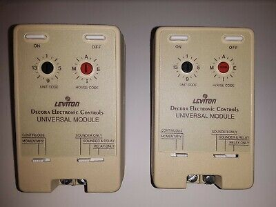 2-Pack Leviton Decora 6337 Electronic Control Universal Module (Ivory) 2 -