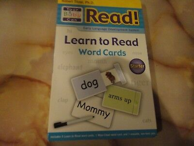 YOUR BABY CAN READ- LEARN TO READ WORDS: STARTED; 5 DOUBLE SIDES CARDS