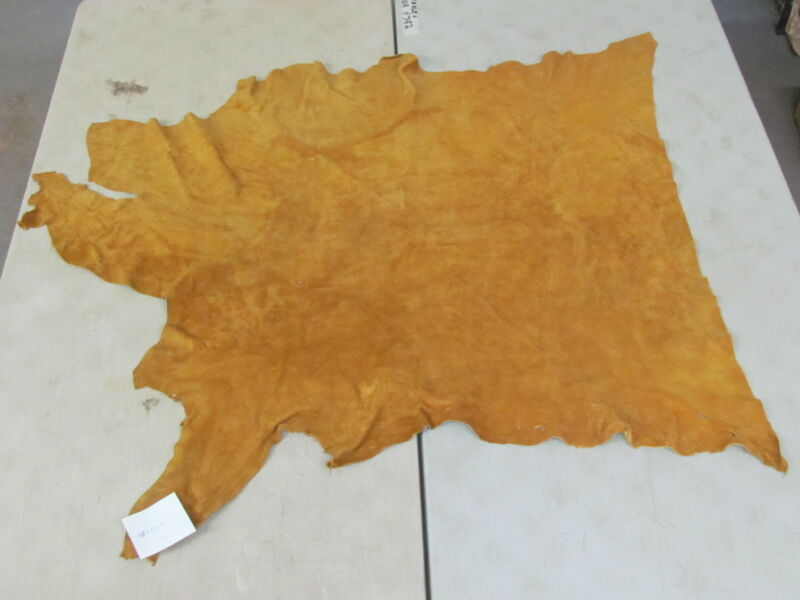 "39"" X 50"" NATIVE AMERICAN SOFT MOOSE HIDE, COMMERCIAL TANNED, LIGHT COLOR"
