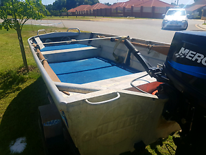 Quintrex tinny 25hp mercury seapro 2 stroke. Swanbourne Nedlands Area Preview