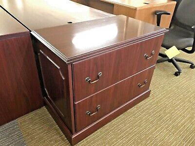 Traditional Style 2 Drawer Lateral Size File Cabinet By Hon Office Furniture