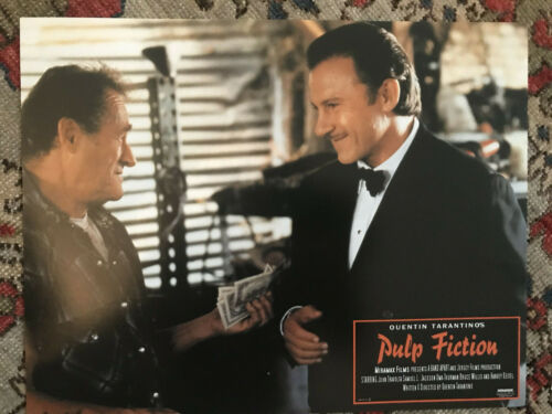"Pulp Fiction 1994 Miramax 11x14"" crime lobby card Harvey Keitel"