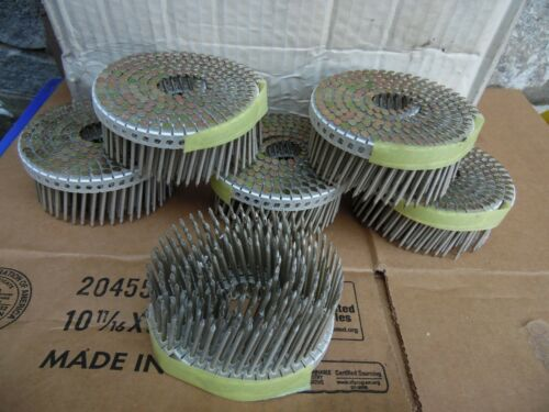 "Hitachi 1200 Pc 1 3/4"" X.086 Galvanized Coated Pallet Fencing Crating Coil Nails"