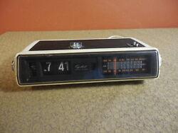 Vintage Mid Century Modern Capehart Digital Flip Clock Alarm AM FM Radio