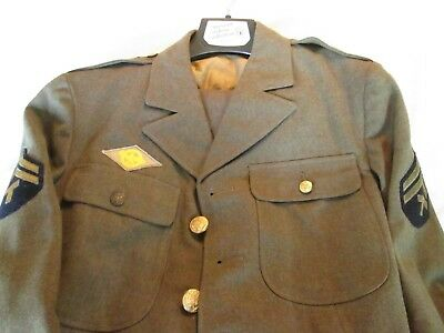World War II Complete Uniform Army Aircorp Tech Corporal Size small