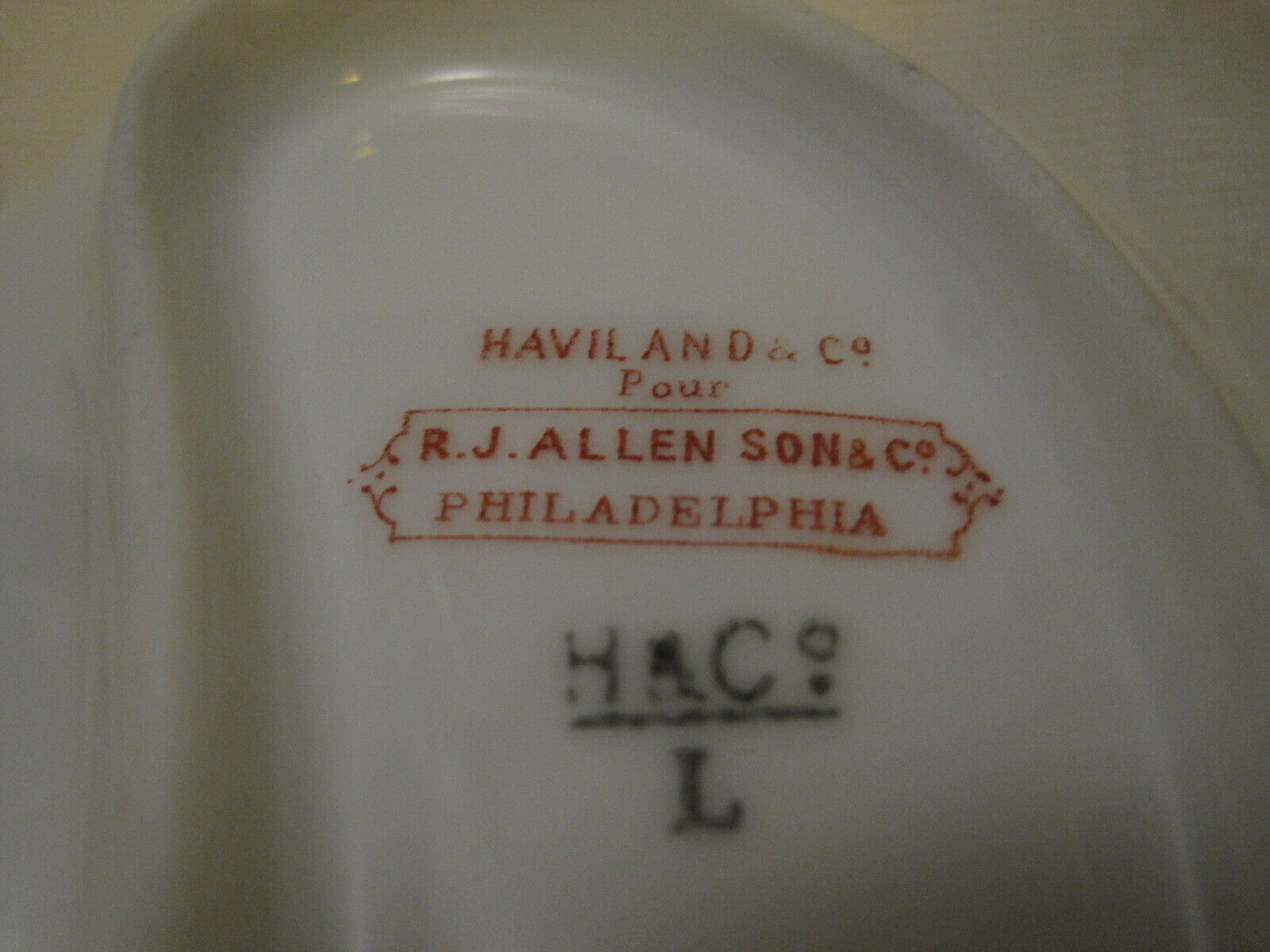2 Haviland Co. Limoges Fish Bone Plates Made In France For R J Allen Son Co - $30.00