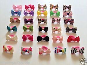 2-x-Pair-Baby-Girl-Hair-Bobble-Grosgrain-Bow-Floral-Animal-Polka-Toddler-Girls
