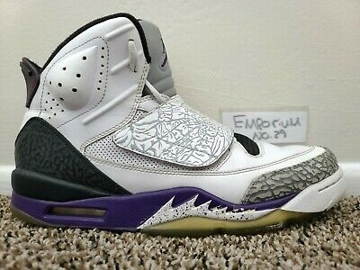 Nike Jordan Son Of Mars Club Purple Elephant Cement Grey 512245-106 Sz 10