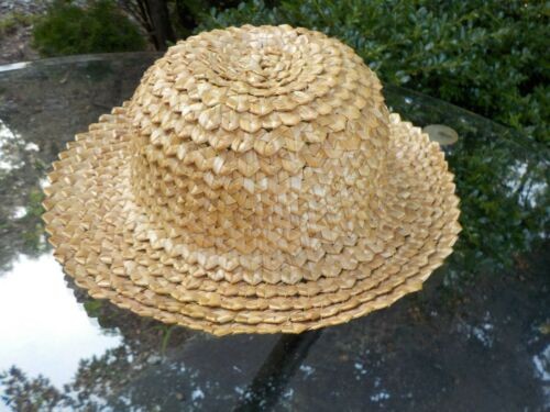 Lithuania folk costume hand made straw hat, plus jousta sash, neck tie