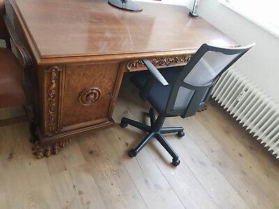 Büro Schreibtisch antik Stil Schreibpult Computertisch vintage gebraucht kaufen  Offenbach
