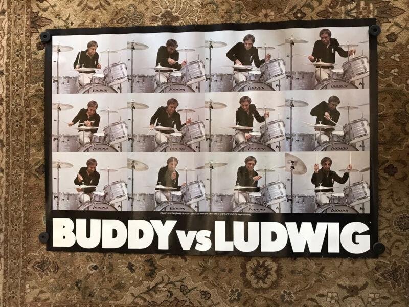 Buddy Rich poster Ludwig   ca 70