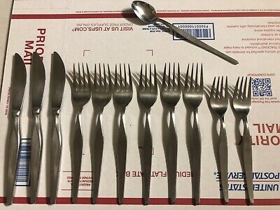 Noritake 18/8 Stainless Japan Linden Flatware Set of 12 Pieces - Linden 12 Piece