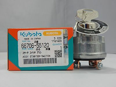 NEW  KUBOTA NEW  IGNITION KEY SWITCH W/ KEYS 66706-55120 FIT ENGINES AND EQUIP