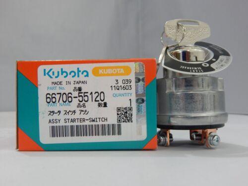 Kubota New Ignition Key Switch w keys 66706-55120 Fits Engines and Equipment