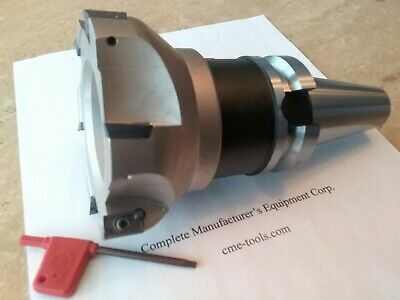 4 90 Degree Indexable Face Shell Millface Milling Cutter Apkt W. Bt40 Arbor
