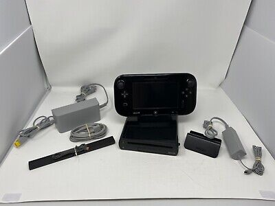 Nintendo Wii U Launch Edition 32GB Black Handheld System CLEANED & TESTED