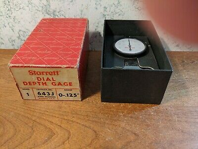 Starrett Dial Depth Gage No 643j W Box