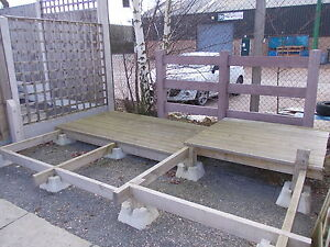 Decking Block / timber decking / decking / used decking / concrete block