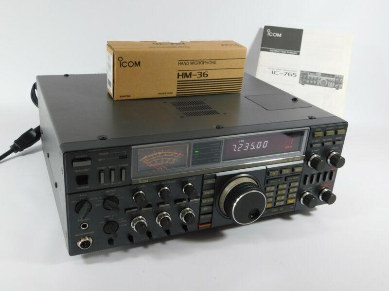 Icom IC-765 Ham Radio HF Transceiver w/ Original Box + New Mic (great condition)