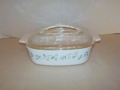 """COUNTRY COTTAGE"" Corning Ware 1 Liter Covered Casserole w/Lid Baking Dish"